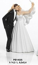 Dekofigur Brautpaar-Selfie, geeignet als Torten-Topper oder Gastgeschenk, 14,3cm, aus Harz
