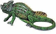 Dekofigur Chamäleon, Teichdekoration, Gartenfigur, Reptil, Echse, Chamaeleon