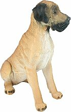 Dekofigur Deutsche Dogge CHARLY Hund Braun Höhe