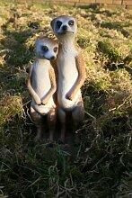 Dekofigur Erdmännchen Paar Statue Meerkatze
