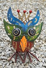 Dekofigur Eule Hedwig, Gartenfigur aus Metall,