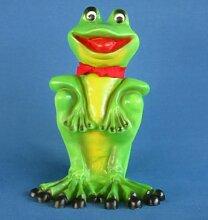 Dekofigur Frosch Schal und Bewegungsmelder Höhe 33 cm Gartendeko aus Kunststoff