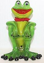 Dekofigur Frosch Schal und Bewegungsmelder Höhe