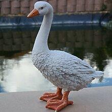 Dekofigur Gans Ente Vogel Erpel Tierfigur Deko