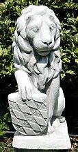 Dekofigur Gartenfigur Deko Skulptur Löwe mit