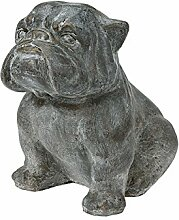 Dekofigur Hund Bulldogge 43x31x43cm Gartenfigur