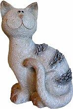 Dekofigur Katze Lucy Gartenfigur Dekoration Tier Skulptur Wohnung Garten