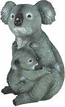 Dekofigur Koalabär mit Koala Baby Gartenfigur