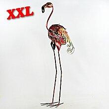 Dekofigur Metall XXL Flamingo Kranich Vogel Storch Strauß Gartendeko