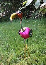 Dekofigur Paradiesvogel 50 cm Metall Gartendeko Vogelfigur Tierfigur NEU