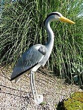 Dekofigur Reiher Fischreiher Teichfigur Reiherschreck Gartendeko Teich Vogelschreck Fischteich
