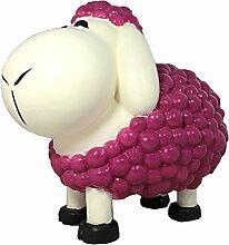 Dekofigur Schaf Schnauzi brombeer bunte Dekoration nicht nur für den Garten