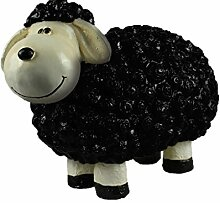 Dekofigur schwarzes Schaf Uli bunte Schafe Tier Figuren für Haus und Garten