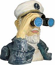 Dekofigur Seemann mit Fernglas,Spanner Deko für