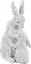 Dekofigur Steinoptik Weiß Polyresin Tierfigur