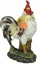 Dekofigur stolzer Hahn mit Sonnenblume Garten