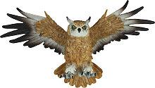 Dekofigur Wanddeko Eule fliegend Uhu Greifvogel