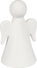 Dekofigur weißer Porzellanengel H15