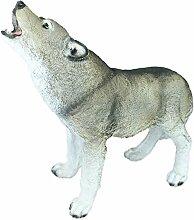 Dekofigur Wolf Tierfigur Wolf-Figur Höhe 45 cm