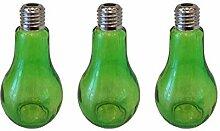 Dekoflasche Glasflasche 3 Stück 14,5 cm Hoch