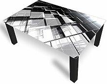 DekoGlas Couchtisch 'Glas Grau' Glastisch