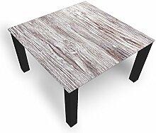 DekoGlas Couchtisch 'Holz Grau' Glastisch