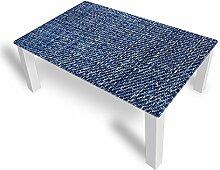 DekoGlas Couchtisch 'Jeans Blau' Glastisch
