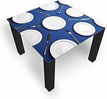 DekoGlas Couchtisch 'Platten Blau'