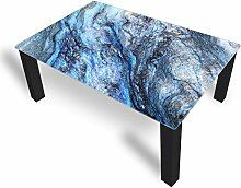DekoGlas Couchtisch 'Stein Blau' Glastisch
