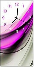 DekoGlas Glasuhr 'Abstrakt Lila' Uhr aus