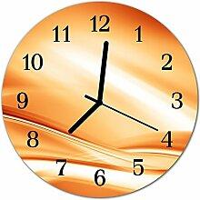 DekoGlas Glasuhr 'Abstrakt orange' Uhr aus