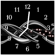 DekoGlas Glasuhr 'Abstrakt schwarz' Uhr