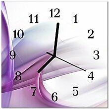 DekoGlas Glasuhr 'Abstrakt violett' Uhr