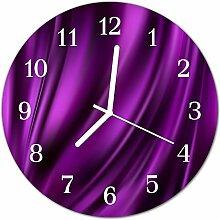 DekoGlas Glasuhr 'Abstraktes violett' Uhr