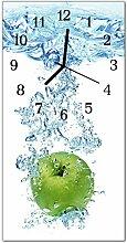 DekoGlas Glasuhr 'Apfel Wasser Mehrfarbig'