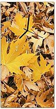 DekoGlas Glasuhr 'Blätter Gold' Uhr aus