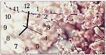 DekoGlas Glasuhr 'Blühenden Baum Rosa'