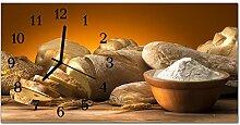 DekoGlas Glasuhr 'Brot Beige' Uhr aus