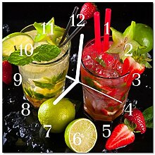 DekoGlas Glasuhr 'Cocktail Mehrfarbig' Uhr