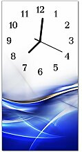 DekoGlas Glasuhr 'Curve Mehrfarbig' Uhr