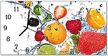 DekoGlas Glasuhr 'Früchte Mehrfarbig' Uhr