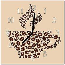 DekoGlas Glasuhr 'Kaffee braun' Uhr aus