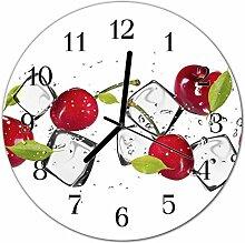 DekoGlas Glasuhr 'Kirschen EIS rot' Uhr
