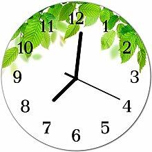DekoGlas Glasuhr 'Laub grün' Uhr aus