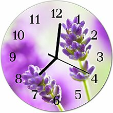 DekoGlas Glasuhr 'Lavendel violett' Uhr