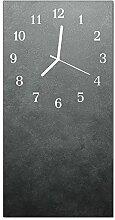 DekoGlas Glasuhr 'Marmorwand Grau' Uhr aus