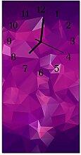 DekoGlas Glasuhr 'Muster Lila' Uhr aus