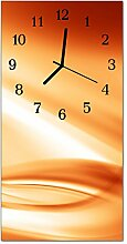 DekoGlas Glasuhr 'Muster Orange' Uhr aus
