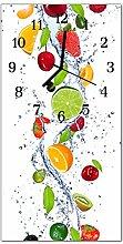 DekoGlas Glasuhr 'Obst Mehrfarbig' Uhr aus
