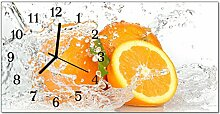 DekoGlas Glasuhr 'Orangen Mehrfarbig' Uhr